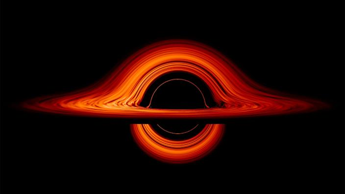 NASA black hole still image
