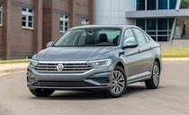 """<p>If you prefer a trunk over the hatchback of the Golf, the <a href=""""https://www.caranddriver.com/volkswagen/jetta"""" rel=""""nofollow noopener"""" target=""""_blank"""" data-ylk=""""slk:Volkswagen Jetta"""" class=""""link rapid-noclick-resp"""">Volkswagen Jetta</a> is the perfect choice. It also starts at $4200 less. Like the Golf, the Jetta comes with a 147-hp turbo four-cylinder and a six-speed manual transmission. Its marginally better fuel economy and larger fuel tank also means you'll go about 23 miles farther on a tank of gas. It's better on gas than some of its closest competitors in the <a href=""""https://www.caranddriver.com/features/g15379302/best-small-compact-cars/"""" rel=""""nofollow noopener"""" target=""""_blank"""" data-ylk=""""slk:compact-car segment"""" class=""""link rapid-noclick-resp"""">compact-car segment</a> too. According to the EPA, the Jetta has a 5-mpg advantage on the highway over the <a href=""""https://www.caranddriver.com/mazda/mazda-3"""" rel=""""nofollow noopener"""" target=""""_blank"""" data-ylk=""""slk:Mazda 3"""" class=""""link rapid-noclick-resp"""">Mazda 3</a>, and is also more fuel efficient than the slightly more expensive <a href=""""https://www.caranddriver.com/nissan/sentra"""" rel=""""nofollow noopener"""" target=""""_blank"""" data-ylk=""""slk:Nissan Sentra"""" class=""""link rapid-noclick-resp"""">Nissan Sentra</a>. </p><ul><li>Base price: $19,990</li><li>Fuel Economy EPA combined/city/highway: 34/30/41 mpg</li><li>Horsepower: 147 hp</li></ul><p><a class=""""link rapid-noclick-resp"""" href=""""https://www.caranddriver.com/volkswagen/jetta/specs"""" rel=""""nofollow noopener"""" target=""""_blank"""" data-ylk=""""slk:MORE JETTA SPECS"""">MORE JETTA SPECS</a></p>"""
