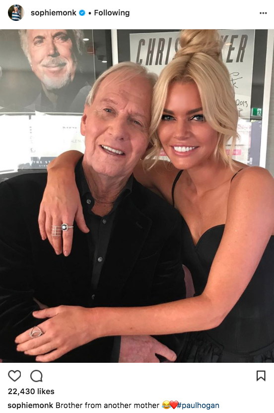 Paul Hogan Sophie Monk AACTA Awards split Stu Laundy