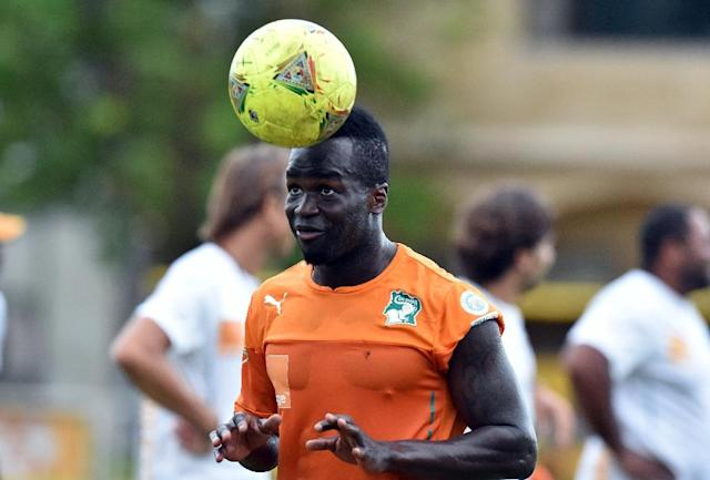 Ivory Coast's Cheick Tiote, pictured in 2014, was capped 52-times and played in teh 2010 and 2014 World Cup (AFP Photo/ISSOUF SANOGO)