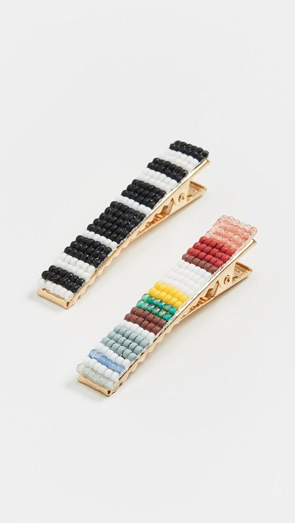 <p>Add these <span>Madewell Beaded Alligator Clips</span> ($19) to any look.</p>