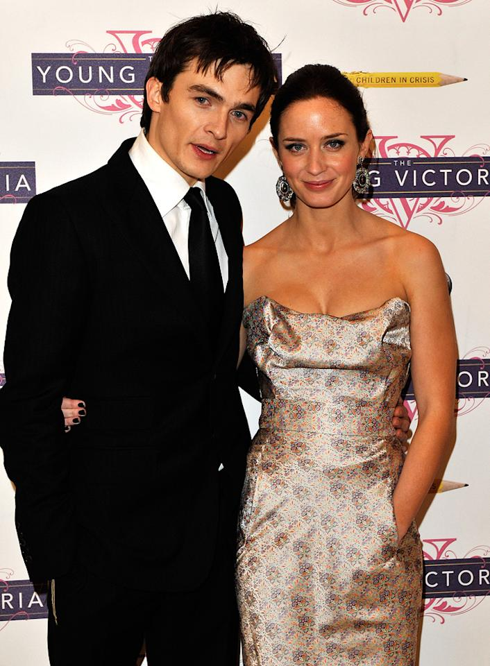 """<a href=""""http://movies.yahoo.com/movie/contributor/1808686696"""">Rupert Friend</a> and <a href=""""http://movies.yahoo.com/movie/contributor/1808577445"""">Emily Blunt</a> at the London premiere of <a href=""""http://movies.yahoo.com/movie/1809924173/info"""">The Young Victoria</a> - 03/03/2009"""
