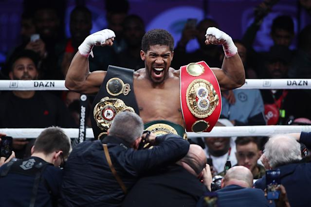 Joshua has offered to help Fury in the lead up to his rematch with Wilder. (Photo by Valery Sharifulin\TASS via Getty Images)