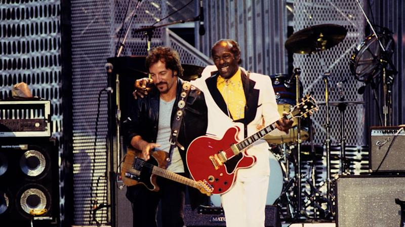 Flashback: Chuck Berry, Bruce Springsteen Play Spirited 'Johnny B. Goode'
