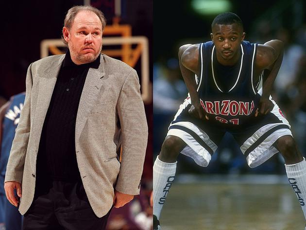 George Karl and Jason Terry, in 1997. (Getty Images)