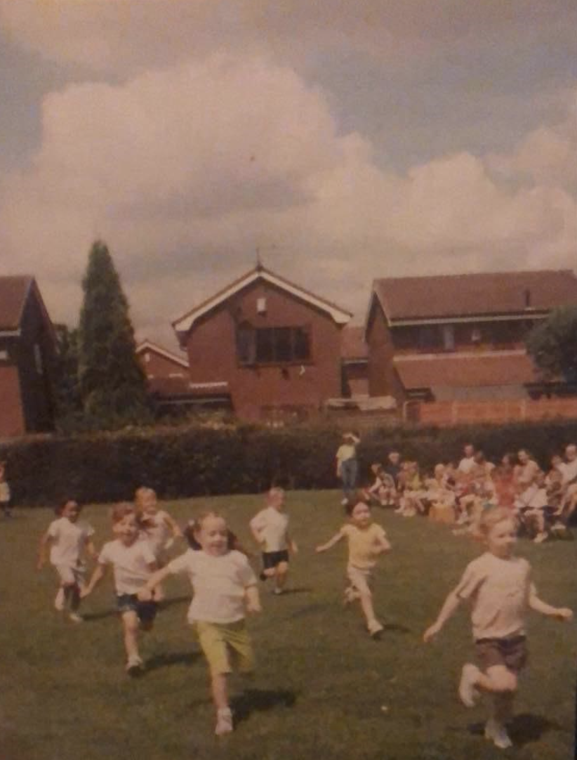 Taylor-Brown, seen here at her school sports day, grew up in a sport-mad family (Picture: British Triathlon)