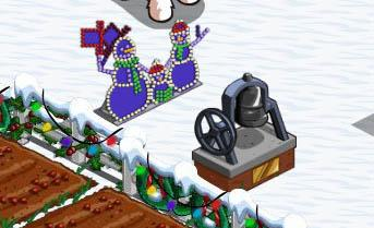 farmville freak bloods lighted snowman family and bell