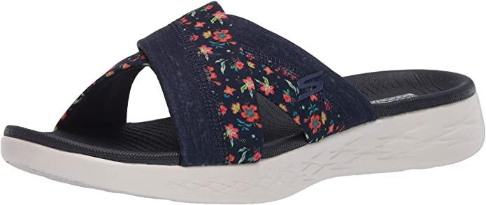 Skechers Womens On The Go 600 Slide Sandal. Image via Amazon.