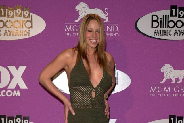 08DEC99: Pop star MARIAH CAREY at the Billboard Music Awards in Las Vegas where she won the Artist of the Decade Award.  Paul Sm
