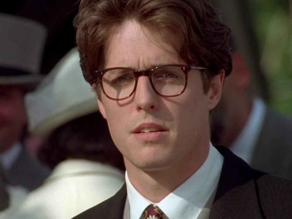 Hugh Grant in Four Weddings And A Funeral (Credit: Rank Film)
