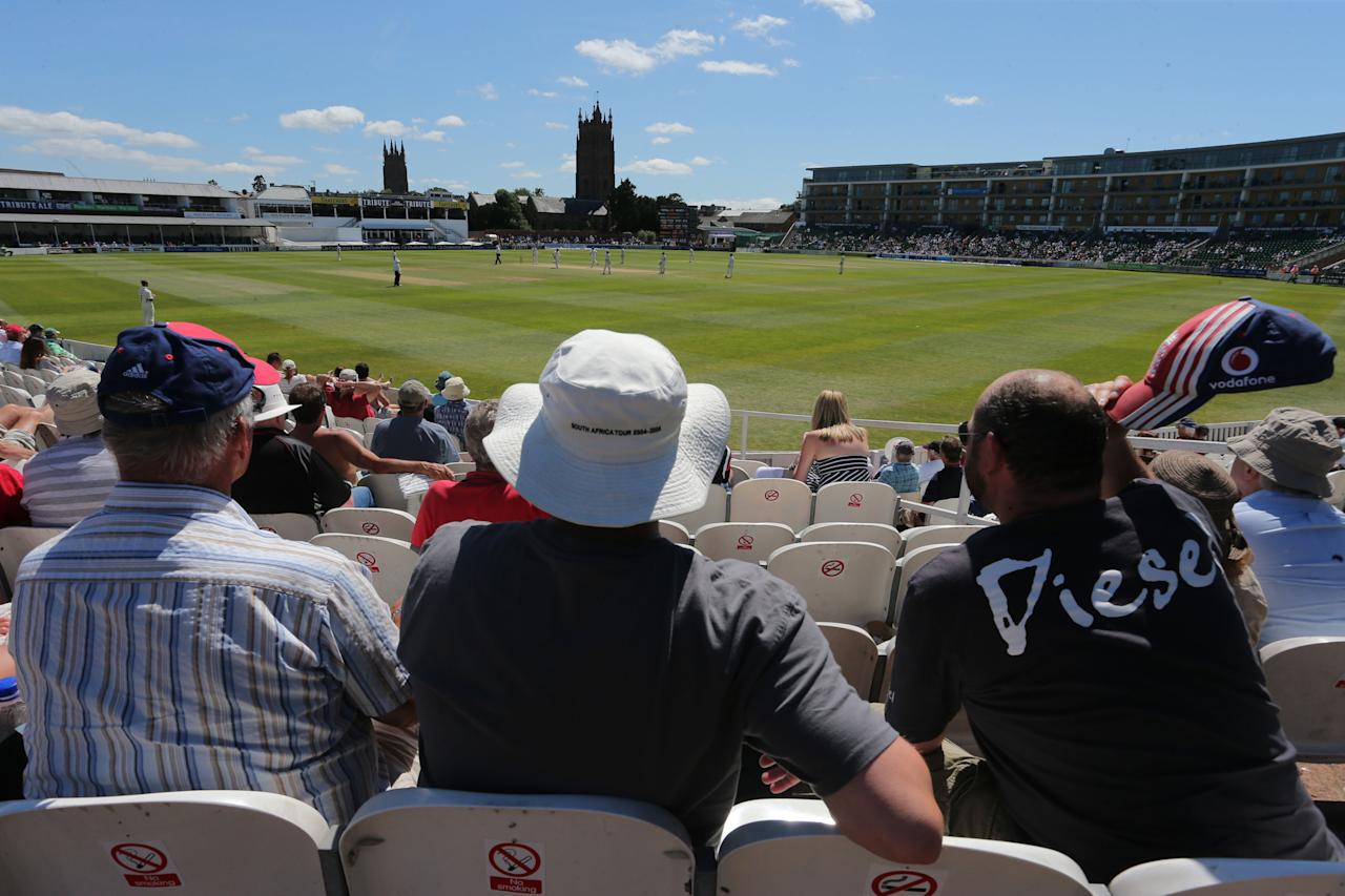 The County Ground at Taunton during Australia win over Somerset on the fourth day of the International Tour match.