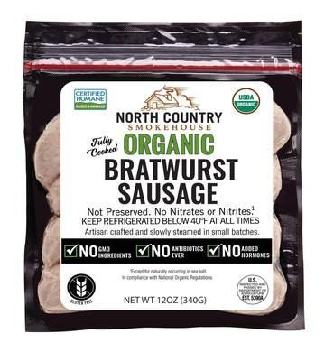 Organic Bratwurst Sausage by North Country Smokehouse. Now Available at Wegmans Food Markets.