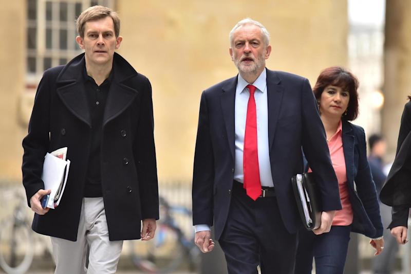 Labour leader Jeremy Corbyn and Seumas Milne (PA Archive/PA Images)