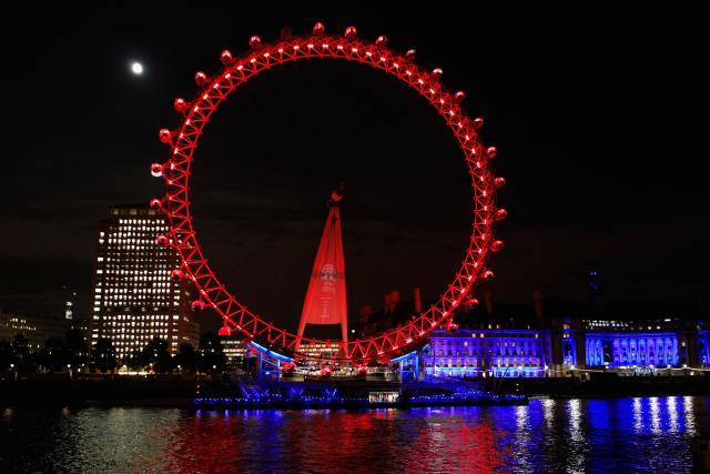 London, Great Britain<br><br>Many a romance has been ignited in London, the city on the Thames. A private capsule on the London Eye, the city's most recognizable modern structure offers, literally, a bird's-eye view of the city. Say the magic words when you're up in the air.