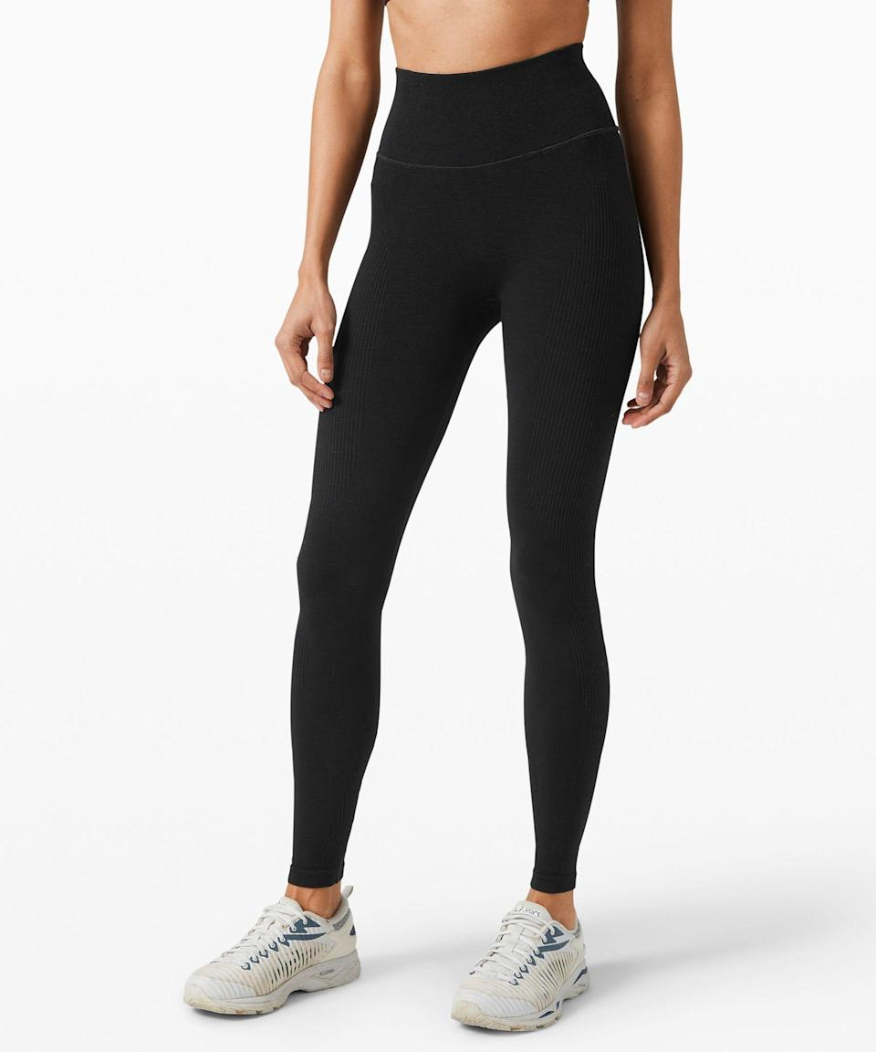 """<p><strong>Lululemon</strong></p><p>lululemon.com</p><p><strong>$128.00</strong></p><p><a href=""""https://go.redirectingat.com?id=74968X1596630&url=https%3A%2F%2Fshop.lululemon.com%2Fp%2Fwomen-pants%2FKeep-The-Heat-Thermal-Tight-28%2F_%2Fprod9200521&sref=https%3A%2F%2Fwww.seventeen.com%2Ffashion%2Fg34440479%2Fbest-winter-leggings%2F"""" rel=""""nofollow noopener"""" target=""""_blank"""" data-ylk=""""slk:Shop Now"""" class=""""link rapid-noclick-resp"""">Shop Now</a></p><p>The headline says it all. Keep the heat in Lululemon's thermal tights that wicks sweat on the inside and insulates on the outside. Reviews from cold weather natives vouch that these make running in colder weather way more tolerable.</p>"""