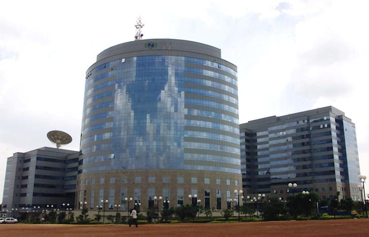 The International Technology Park Ltd building that houses nearly 50 technology firms in Bangalore stands forlorn.