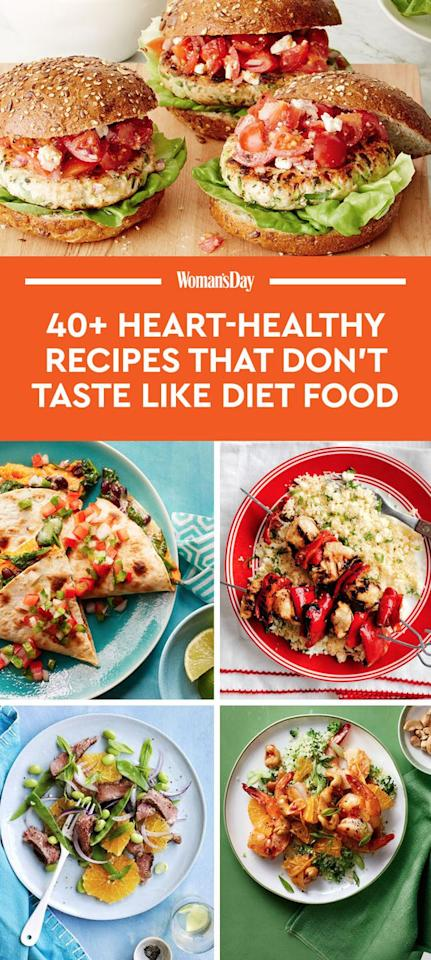 "<p>Save these heart-healthy dinner recipes for later by pinning this image, and follow <em>Woman's Day </em>on <a rel=""nofollow"" href=""https://www.pinterest.com/womansday/"">Pinterest</a> for more. </p>"