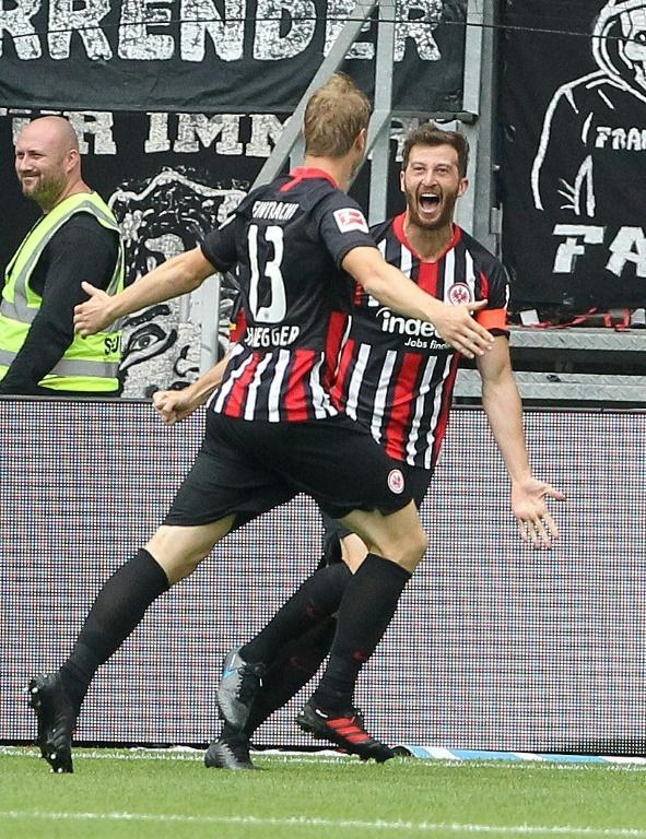 Martin Hinteregger scored after 36 minutes to claim all three points for Eintracht Frankfurt at home to Hoffenheim (AFP Photo/Daniel ROLAND)