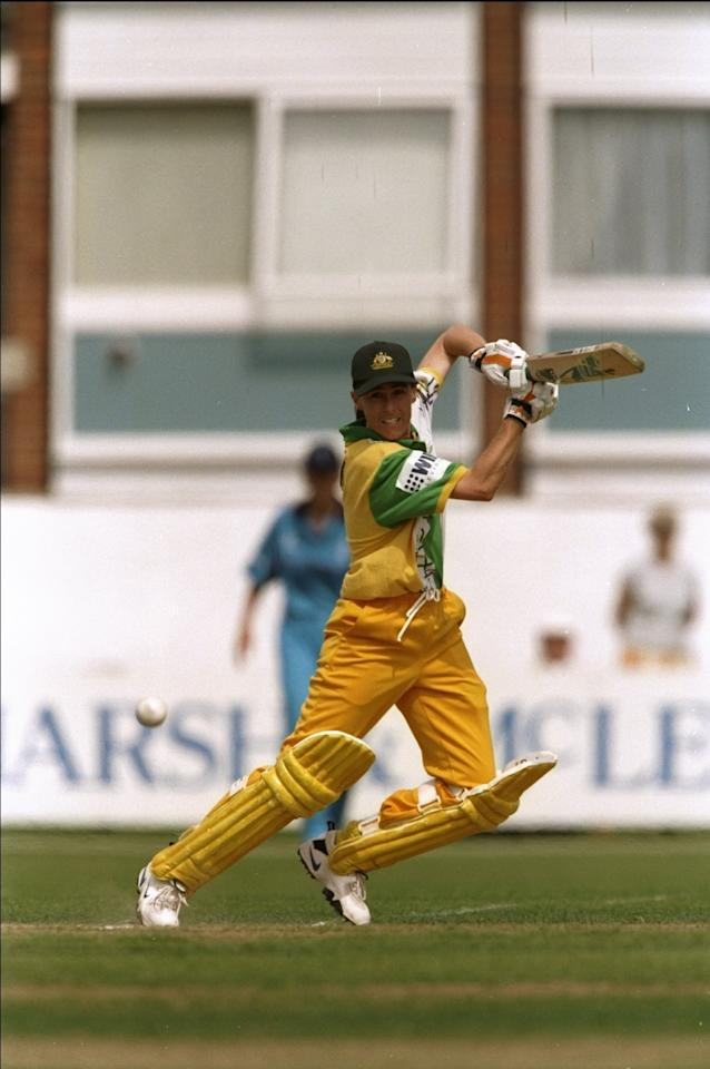 19 Jul 1998:  Belinda Clark of Australia in action during the fourth One Day match against England in Southampton, England. Australia won the match by eight wickets. \ Mandatory Credit: Craig  Prentis/Allsport