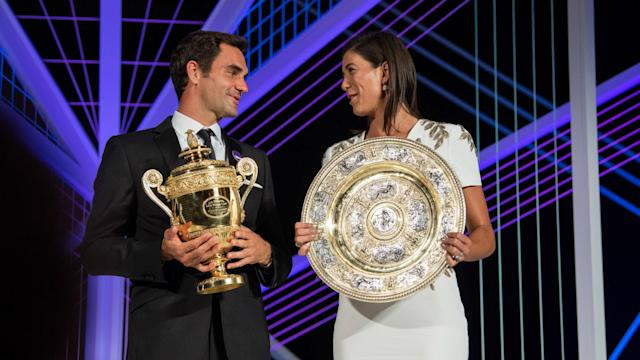 Ageless Roger Federer and first-time winner Garbiñe Muguruza won the singles titles at an All England fortnight full of twists and turns.