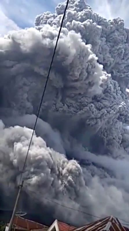 Indonesia volcano spews huge ash cloud in second eruption in three days