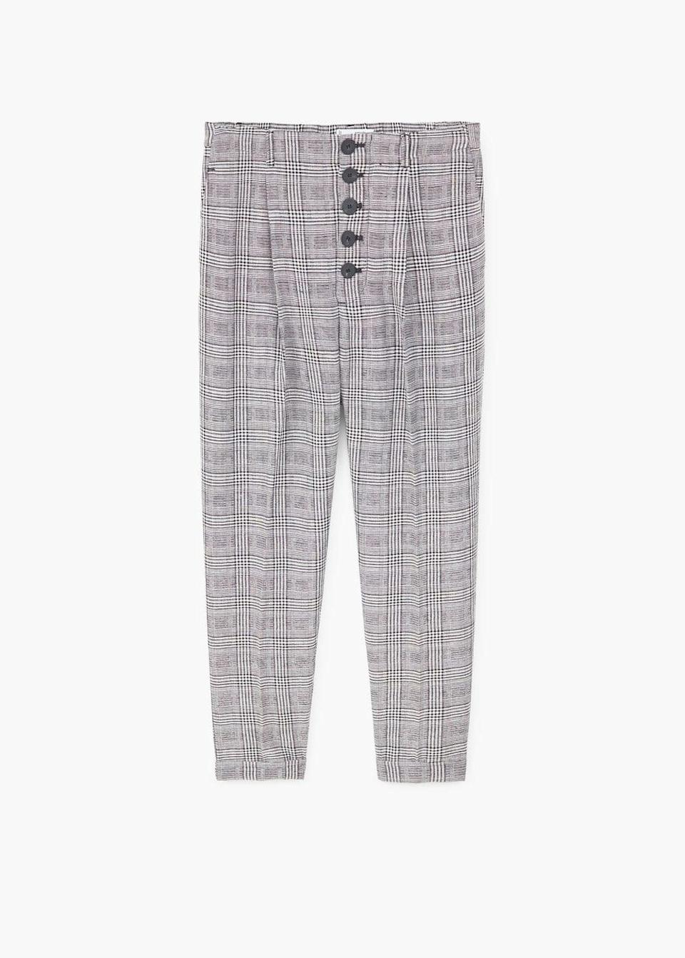 """<p>You heard it hear first. Make sure to shop the two-piece before the fash pack beat you to it. Finish with kitten heels.<br><br><em><a rel=""""nofollow noopener"""" href=""""https://shop.mango.com/gb/women/trousers-straight/prince-of-wales-trousers_11060776.html?c=99"""" target=""""_blank"""" data-ylk=""""slk:Mango"""" class=""""link rapid-noclick-resp"""">Mango</a>, £35.99</em> </p>"""