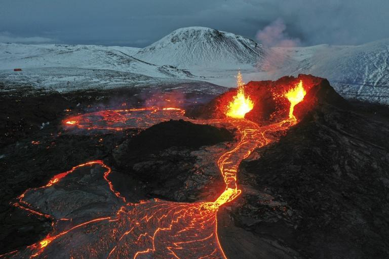 The volcano is about 40 kilometres (25 miles) from the capital Reykjavik