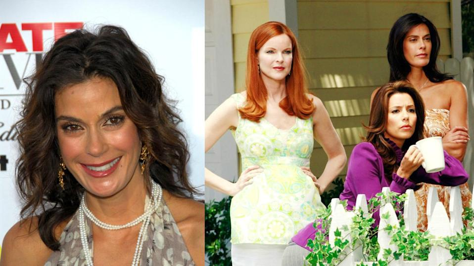 <p>In 2005, there was speculation Marcia Cross and Eva Longoria had threatened to walk out of a Vanity Fair cover shoot if their Desperate Housewives co-star Teri Hatcher was placed in the middle - she ended up on the far left. The rumours surfaced again in 2012 when Teri's name was left off a thank you card from the main stars of the show to the crew days before the finale. <i>[Copyright: Rex Features]</i></p>