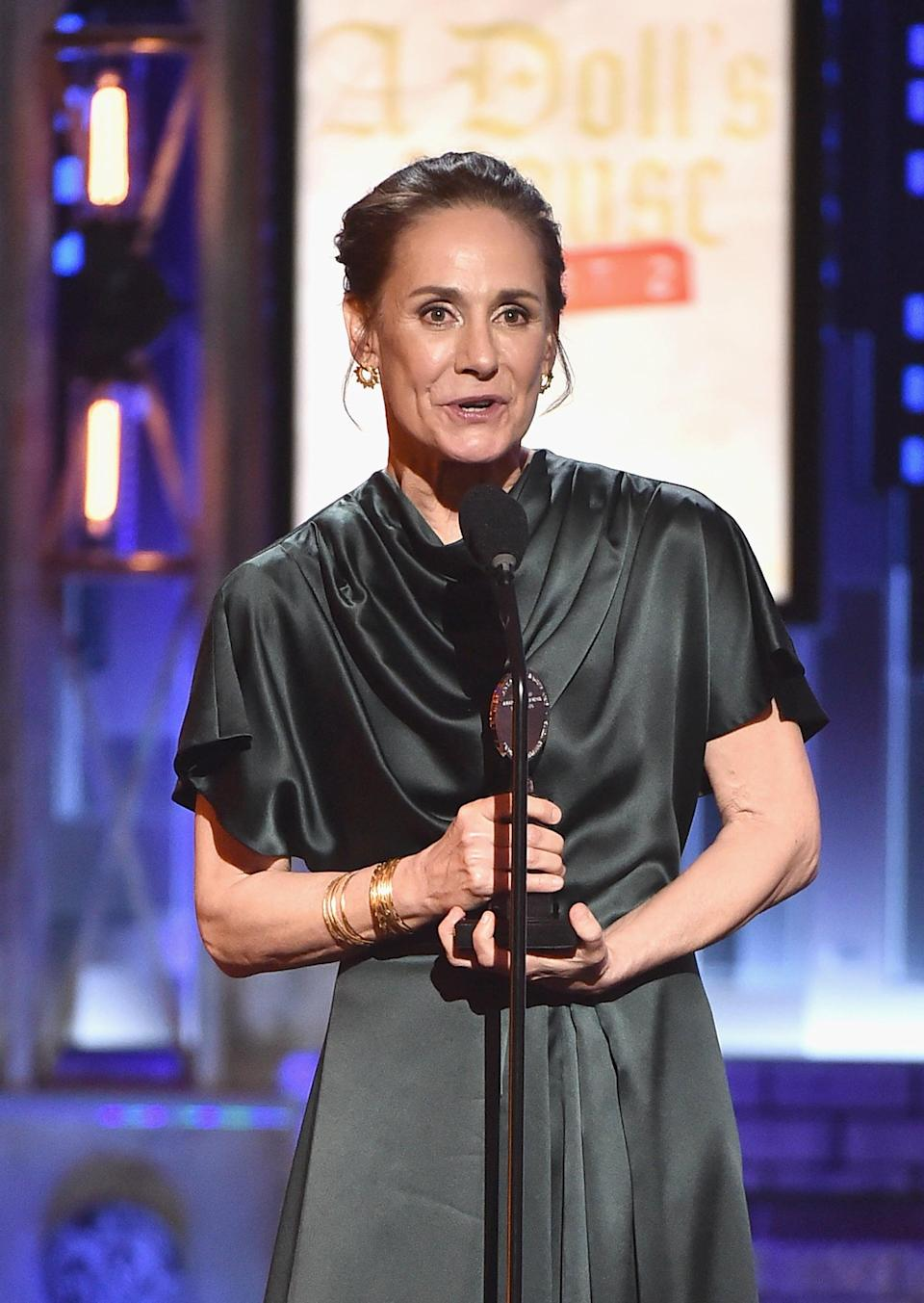 <ul> <li><strong>Has:</strong> A Tony for <strong>A Doll's House, Part 2</strong> and three Emmys for <strong>Roseanne</strong> </li> <li><strong>Needs:</strong> An Oscar and a Grammy </li> </ul>