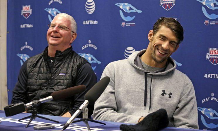 Bob Bowman (L) and Michael Phelps have made quite a tandem over the years. (AP)