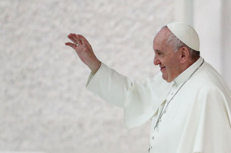FILE PHOTO: Pope Francis holds weekly audience