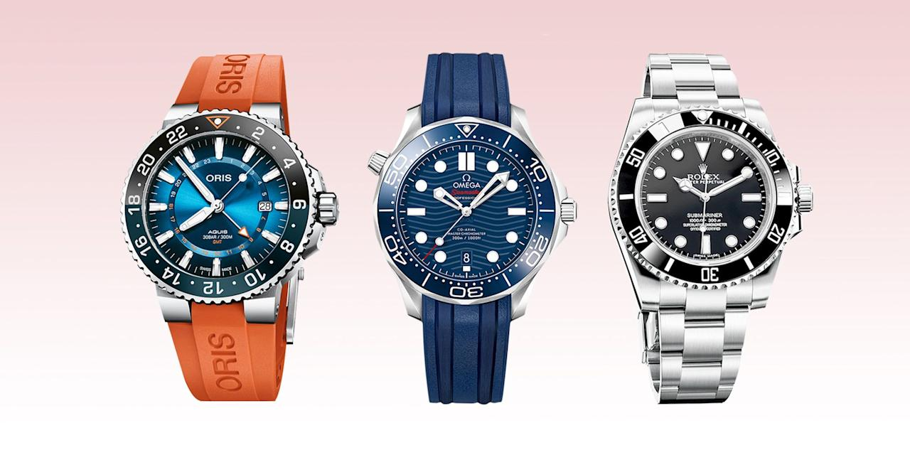 """<p>Water is the eternal nemesis of mechanical watches. Once moisture gets inside, it's pretty much curtains. Dive watches are subjected to the most stringent tests in watchmaking because they must survive potentially life-threatening situations below the waves. If your watch passes all those tests, it's probably going to be robust enough for you. Call it an abundance of caution, but a watch rated for a dive to 200 or 300 meters will probably not cause you any bother while you're washing the dishes. </p><p>Not that that's the only thing that really gets to us about dive watches. There's also the whole mythology of the great subaquatic adventurers, post-ww2, after the aqualung became a viable tool for working (or playing) underwater. As the oceans became the new exploration zone, the watches designed for it were predicated entirely on legibility—any extra embellishment just got in the way of safety—which is why good dive watches are perhaps the best illustrations of the mantra """"less is more.""""</p><p>In truth, dive watches resonate best with us (thank you, James Bond) because they smell of adventure. In the 1950s they were among the first (along with pilots' watches) to be made on a larger physical scale than traditional dress watches; more mass meant more strength to resist increased pressure underwater. More mass also made them noticeable from a distance. And of course, what they say about you from a distance is that you're a certain type of tough. Hopefully.</p><p>One might quibble forever on what makes a great dive watch and how deep it should go, or how important a helium escape valve is when your most ambitious plunge is a belly flop off a diving board at your folks' pool.  The reality is that any serious diver these days would not strap on a scuba tank without also strapping on the kind of digital dive computers—from the likes of Suunto or Cressi—that will convey a hundred more vital things about your dive than simply what time it is. Yet tellingly, many divers s"""