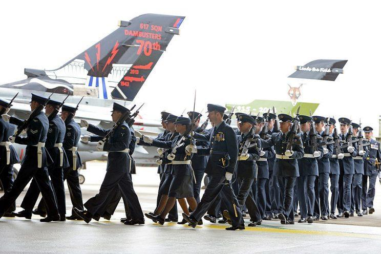 The RAF look set to ban servicewomen wearing skirts [Photo: Getty]