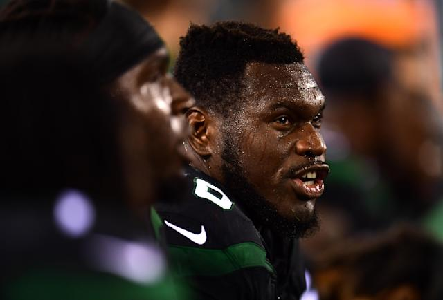 Injured guard Kelechi Osemele was cut by the Jets on Saturday. (Getty Images)