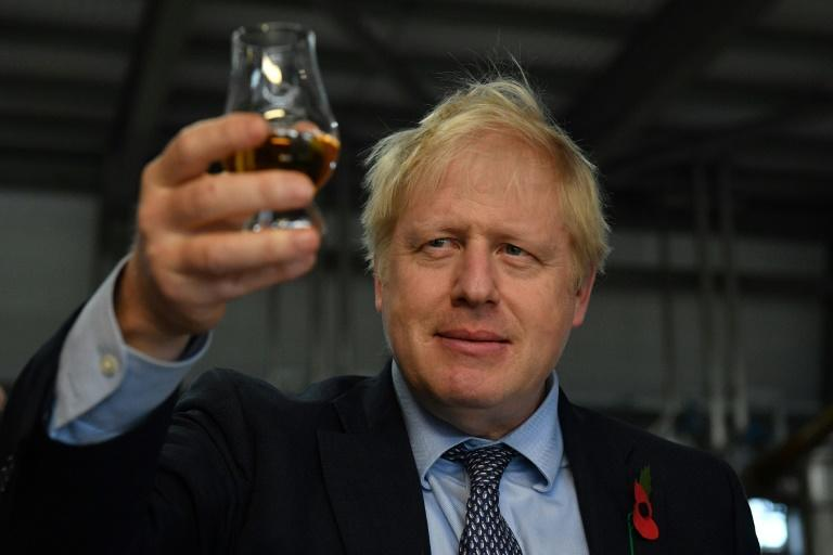 Boris Johnson promised to free whisky producers from US tariffs during a visit to a distillery in northeast Scotland last month