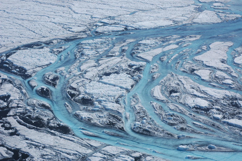 <p>Ice core samples reveal melting is at 'exceptional highs' for the past 350 years, scientists say.</p>