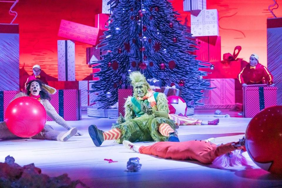 "Booboo Stewart as Young Max, Matthew Morrison as Grinch in NBC's musical remake of ""How the Grinch Stole Christmas"""