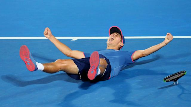 After falling to Daniil Medvedev in the 2018 Sydney International, Alex de Minaur triumphed at his hometown tournament a year later.