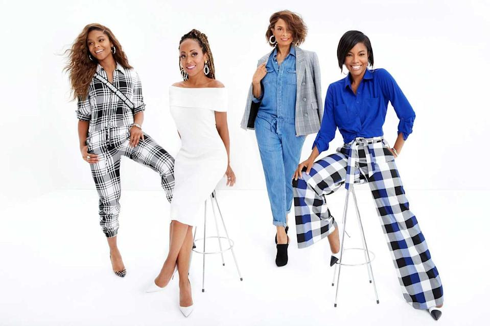 From left: Ajiona Alexus, Essence Uhura Atkins, Valarie Pettiford, and Gabrielle Union in the new Gabrielle Union Collection #AllTogetherNow for New York & Company. (Photo: Courtesy of New York & Company)