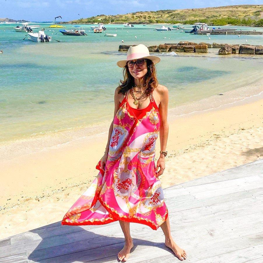 """<p><strong>Location:</strong> St. Barts</p> <p>Bethenny Frankel of <em>Real Housewives of New York</em> left her heart in St. Barts after a recent getaway to the <a href=""""https://www.instagram.com/p/B8Zvyu0AIJh/"""" rel=""""nofollow noopener"""" target=""""_blank"""" data-ylk=""""slk:island"""" class=""""link rapid-noclick-resp"""">island</a>, where she stayed at <a href=""""https://www4.luxuriavacations.com/destinations/st-barths/le-barthelemy-hotel-and-spa/rooms/le-barth-lac?utm_source=google&utm_medium=cpc&utm_campaign=dynamic_stbarths&gclid=EAIaIQobChMIo9iIp7zR5wIViZ6zCh3kjQwuEAAYAiAAEgKM4vD_BwE"""" rel=""""nofollow noopener"""" target=""""_blank"""" data-ylk=""""slk:Le Barthélemy Hotel & Spa"""" class=""""link rapid-noclick-resp"""">Le Barthélemy Hotel & Spa</a>. She traveled to the hotspot with her film producer boyfriend, Paul Bernon, for a romantic getaway.</p>"""