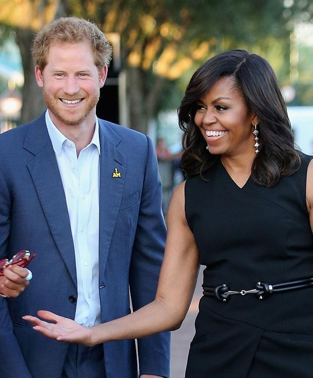 Prince Harry met former FLOTUS Michelle Obama numerous times. Photo: Getty