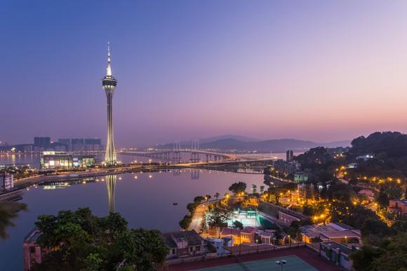 Macau skyline at night