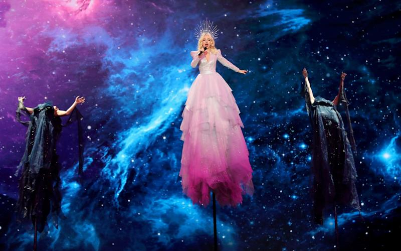 Kate Miller-Heidke of Australia performs during the First Semi-Final of the 64th annual Eurovision Song Contest (ESC) at the Expo Tel Aviv, in Tel Aviv - REX
