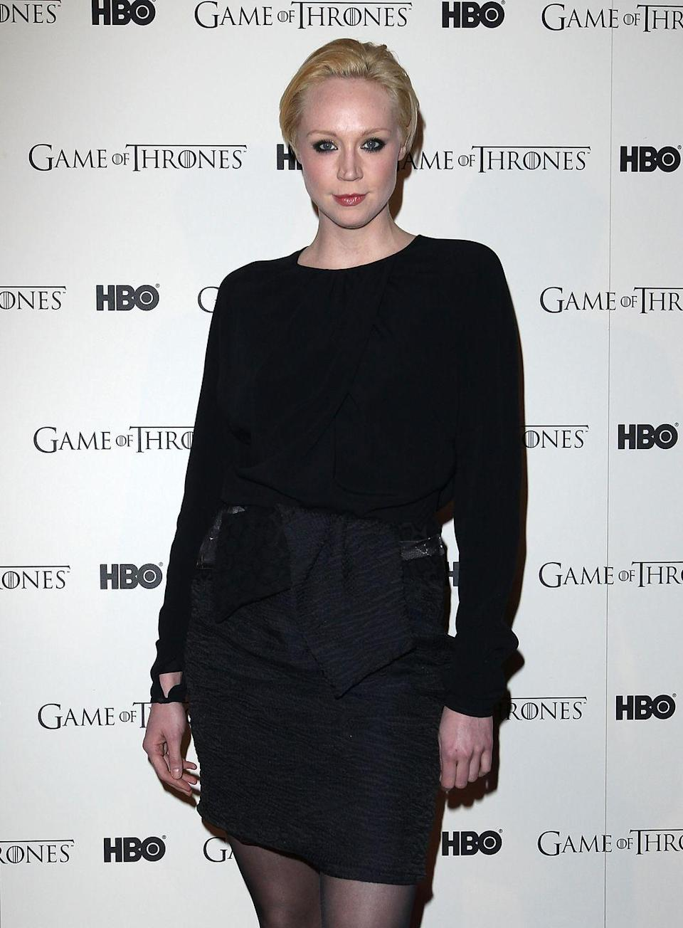 <p>Under all that shiny armor was Christie, who is also known for playing the inimitable Brienne of Tarth in the HBO series <em>Game of Thrones. </em></p>