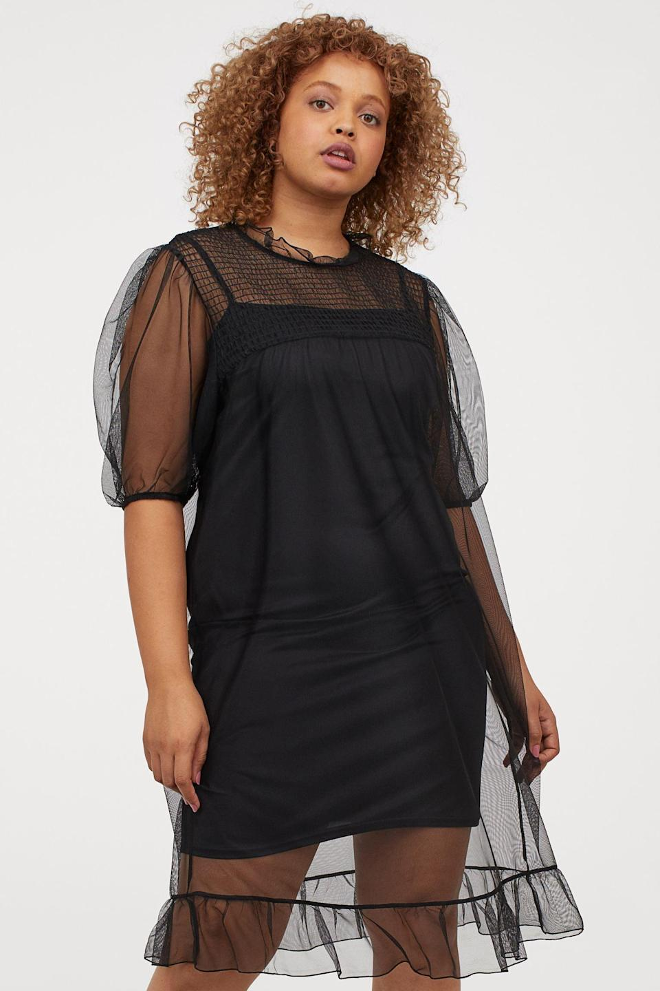 <p>The words chic and easy come to mind to describe this <span>Mesh Dress</span> ($18).</p>