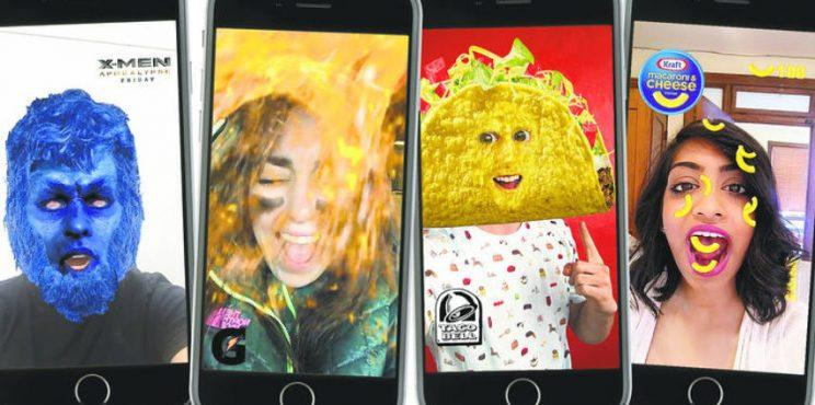 Snapchat sponsored lenses, Delmondo
