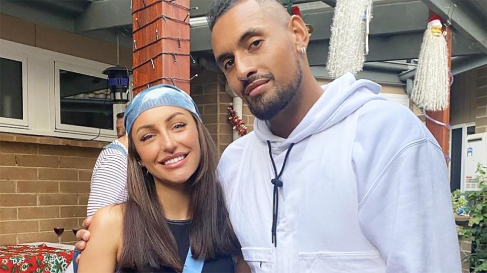 Nick Kyrgios and his girlfriend, Chiara Passari, were reportedly moved into different rooms in hotel quarantine by SA Police after an argument. Picture: Instagram