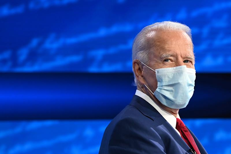 US Democratic nominee Joe Biden appears in ABC News town hall (AFP via Getty Images)