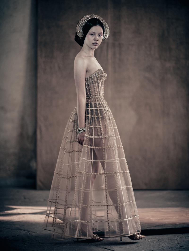 Mia Goth in the 2020 Pirelli calendar. [Photo: 2020 Pirelli Calendar by Paolo Roversi]