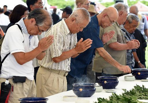 Tensions flare in Okinawa on 70th anniversary of battle